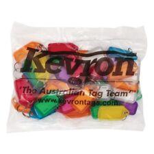 Bulk Office Key Tags Bag Of 50 MIXED Plastic KEVRON Click Key Rings-FREE POST