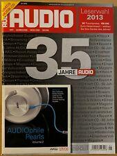 Audio 1/13 - HiFi Zeitschrift aus 2013 - 35 Jahre Audio - inkl. CD