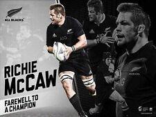 RICHIE McCAW FAREWELL TO A CHAMPION NEW ZEALAND ALL BLACKS RETIREMENT PRINT