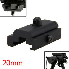 Bipod Sling Swivel Adapter Weaver Picatinny 20mm Rail Mount For Rifle Gun Black