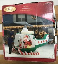 Gemmy Santa Helicopter 8 Foot Christmas Xmas Inflatable Airblown Holiday Living