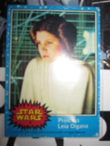 STAR WARS VINTAGE CARD TOPPS PRINCESS LEIA ORGANA 5 1977 SERIE 1 USED POSTER SET