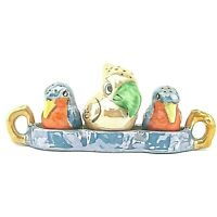 Vintage Anthropomorphic Birds Salt and Pepper Shakers Japan Ceramic Aviary Set