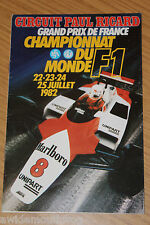 FOLLETO de las regulaciones francesas Grand Prix 1982