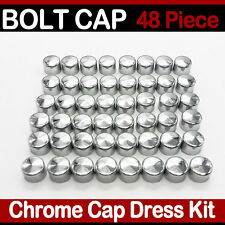48PCS Motorcycles Accessories Bolt Toppers Caps Bolt Cover Kit for 84-03 Harley