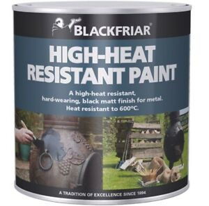 High Heat Resistant Paint Fires BBQ Chimineas Radiators Exhaust Black Matt New