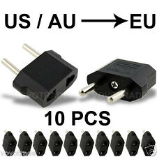 10PCS US/AU to EU Travel Converter AC Power Plug Power Charger Adapter