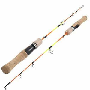 Winter Ice Fishing Rod Ultralight Portable Travel Spinning Hard Fiberglass Pole