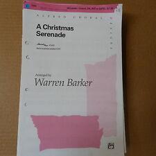 choral music set A CHRISTMAS SERENADE arr. Warren Barker, 59 parts