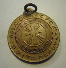 RARA MEDAGLIA ASS.NE AZIONE CATTOLINA PIO XI S.ZITA GENOVA 1925-1935 BRONZO (VP)