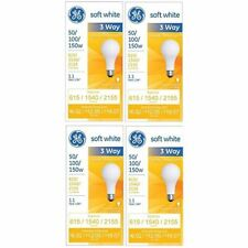 GE 97494 Soft White 3-Way 50/100/150 Watt A21 Light Bulb 4-Pack
