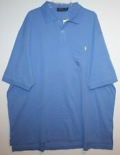 Polo Ralph Lauren Big and Tall Mens Sky Blue Classic Fit Polo Shirt NWT 4XB