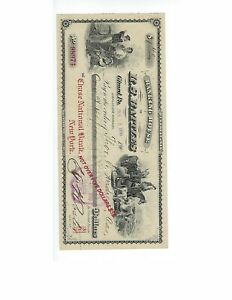 U.S. BANK CHECK   R.S. BATTLES BANKING HOUSE  1910  GIRAFD PA.   VF