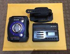 Aiwa Cross Trainer Am Fm Cassette Player Lot Of 2 Super Bass JS415