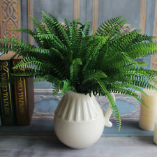 Green Artificial Fern Bouquet Silk Plants Fake Persian Leaves Foliage  Decor BDA