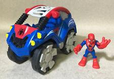 Marvel Playskool Heroes Spiderman Flip Out Stunt Pull Back Buggy