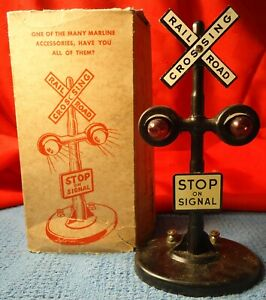 Marx O Scale # 423 Twin Light Crossing Flasher OB.  Tested