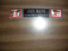 JOHN WAYNE NAMEPLATE FOR SIGNED PHOTO/MEMORABILIA DISPLAY