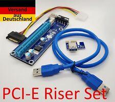 PCI-E 1x - 16x Riser ►Set◄ (USB 3.0 , 4 Pin Molex) - z.B. GPU Mining Rig  ✔✔