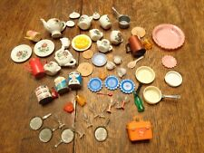Vintage Lot Of Small Food Dishes Doll Or Play Some Barbie Sized Huge All Types