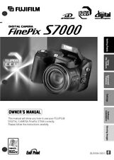 FujiFilm FinePix S7000 Digital Camera User Guide Instruction  Manual