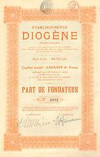 Etablissements Diogene SA, parte de fundador, 1920 (Lainage de Pyrenes)