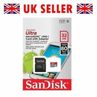SanDisk Ultra 32GB Class 10 UHS-I  micro SD SDHC memory card HD Inc Adapter