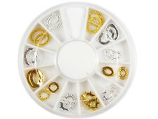48 Stück Nail Art Metall Plating in Farben Gold Silber AP-77