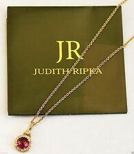 JUDITH RIPKA COUTURE LaPETITE CHAIN & TOURMALINE PAVE DIAMOND 18K GOLD PENDANT