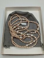 "Estate GSJ Peach/ Pink Freshwater Pearl Opera Length Extra Long 65"" Necklace"