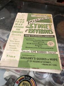 Gregory's Vintage Road Map No.15 Sydney And Environs