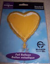 "GOLD HEART 17"" Foil Party Balloon"