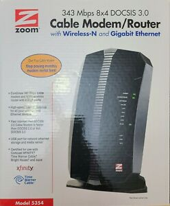 ZOOM Model 5354 DOCSIS 3.0 Cable Modem & Wireless-N Gigabit Router Combo 343Mbps