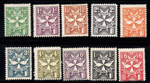 Malta 1925-1967 MNH 100% postage due the coat of arms
