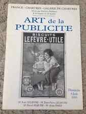 CATALOGUE VENTE 1993 CHARTRES ART PUBLICITE AFFICHES DONT REGION NANTES