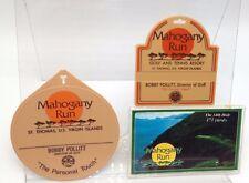 Mahogany Run St Thomas golf bag tags Lot 3 Resort US Virgin Islands