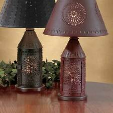Park Designs Punched Revere Willow Lamp, Choice of Black or Red