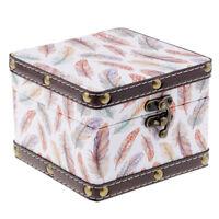 Treasure Chest Gift Case Holder Storage Box Vintage Jewelry Boxes Handmade S