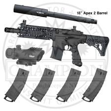 Tippmann TMC Paintball Marker - Long Range Magazine Fed Paintball Gun - 4 Mags