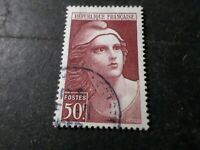France 1945/47 Stamp 731 Marianne Gandon, round Postmark, Obliterated, VF Used