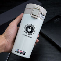 Insulated Travel Coffee Mug Cup Thermal Stainless Steel Flask Vacuum LEAKPROOF@@