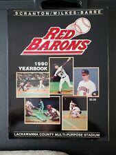 Scranton Wilkes-Barre Red Barons 1990 Yearbook Phillies Minor League Baseball