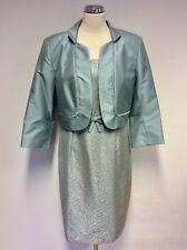 BNWT DRESS CODE BY VEROMIA LAPIS BLUE (DUCK EGG) DRESS & JACKET SIZE 18 RRP £399