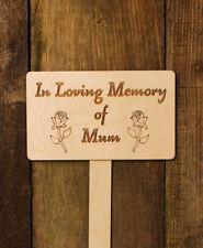 In Loving Memory of Mum Wooden Engraved Plaque Memorial Garden Sign
