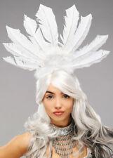 RIO Carnevale Showgirl Copricapo piuma bianca