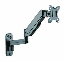 Wall Mounted Monitor Mount - Height Adjustable Computer Screen Vesa Stand