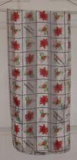 "TERRIART Blocks of Poinsetta, Berries, ""Merry Christmas"" 58x13 Lg Scarf-Vintage"