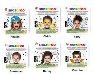 Snazaroo Mini Theme Packs Childrens Face Paint Sets With Guides