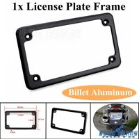 "Black License Number Plate Frame Bracket Cover For 4"" x 7""Harley Davidson Custom"