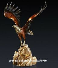 Bronze Handpainted Home Decoration Artwork Sculpture Great Wall Bird hawk eagle